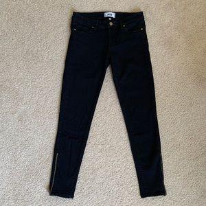 Paige Verdugo ankle black zip jeans
